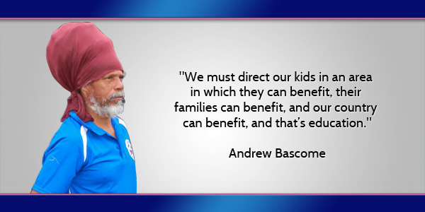 Andrew Bascome Bermuda April 1 2016