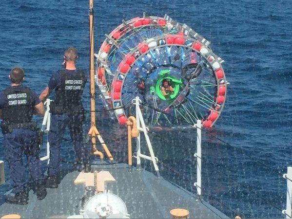 Coast Guard Bubble Man April 2016