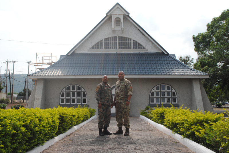 JDF chaplain Major Denston Smalling and RBR padre Lt Musa Daba