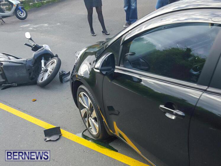 bike car collision Bermuda, April 26 2016-1