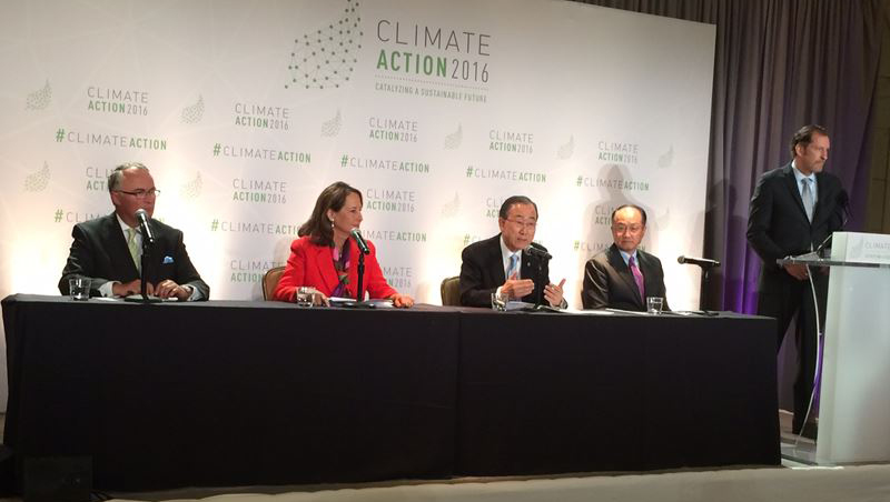 Climate conf May 2016 Stephen on Panel with UNSG May 16