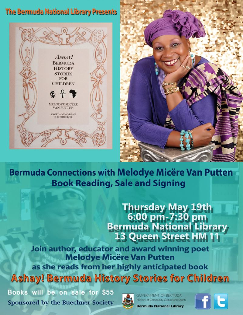 Melodye VanPutten Book Signing - Ashay! Bermuda History Stories for  Children (FINAL)