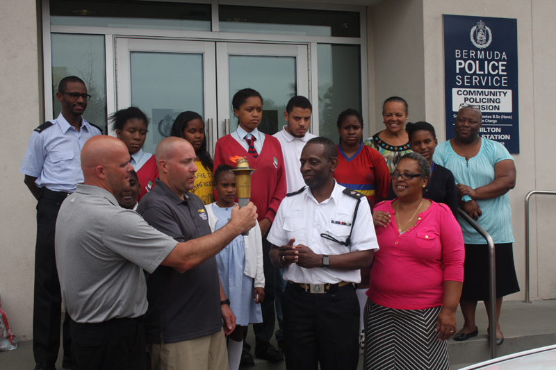 Police and Fire Donate Bermuda May 12 2016 (2)