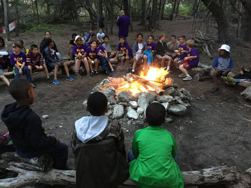 Scouts at Campfire Bermuda May 17 2016