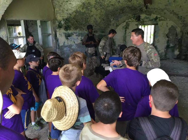 Scouts & regiment Talk Bermuda May 17 2016