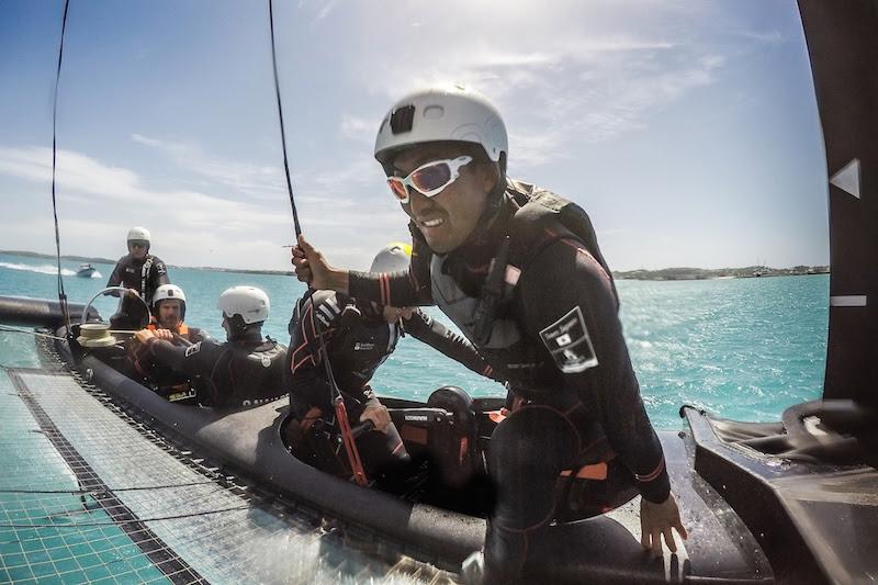 SoftBank Team Japan preparing in Bermuda for the 35th America's Cup