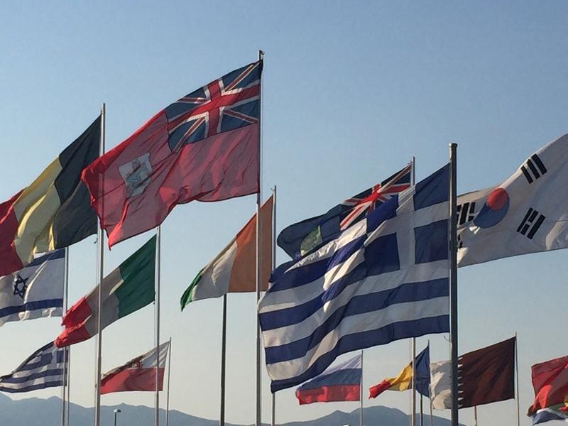 Bermuda Shipping Showcased In Greece June 2016 - flags