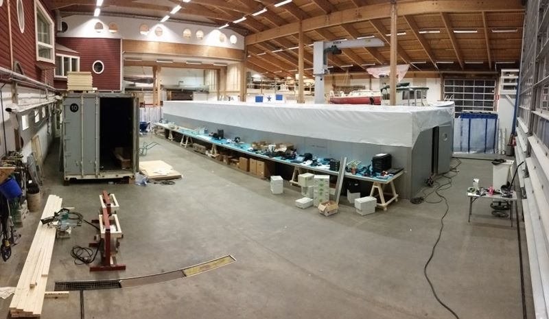 Construction Of Americas Cup Yacht