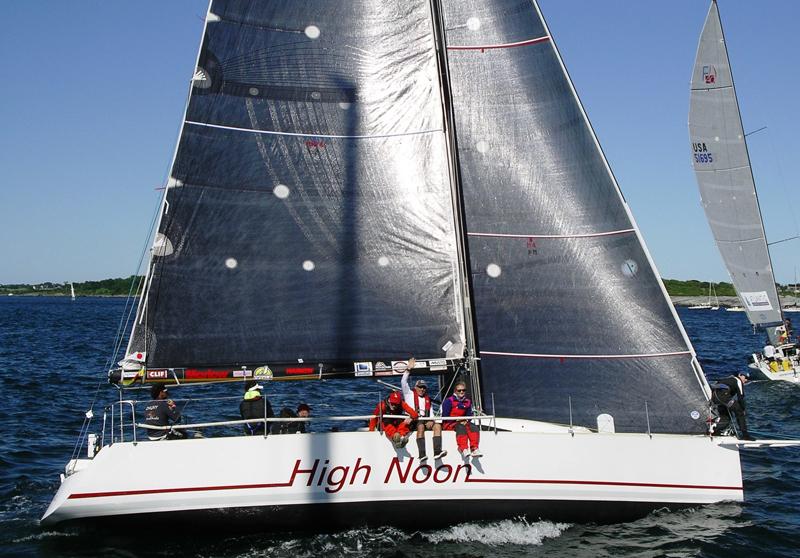 2016 Newport Bermuda Yacht Race start. HIGH NOONUSA 1200SDL10CCA, American YCYoung American Jr. Big Boat Sailing TeamSt. David's Lighthouse DivisioTripp 41WhiteSail Newport1200CCA, American YC