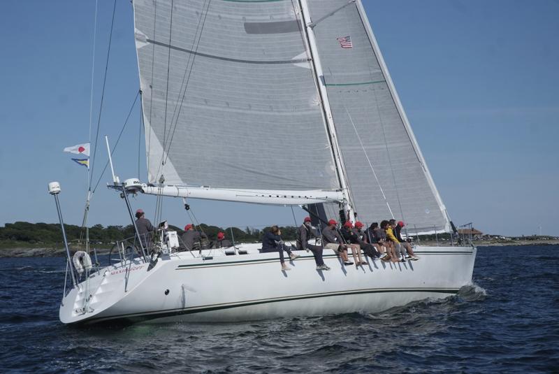 2016 Newport Bermuda Yacht Race start. MAXIMIZERGBR 711SDL11NYYCJose Diego-ArozamenaSt. David's Lighthouse DivisioFarr 72WhiteNewport Shipyard711NYYC