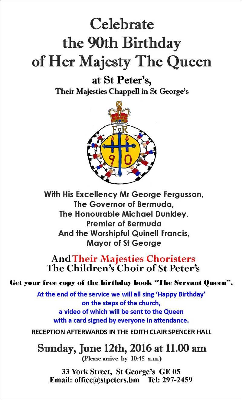 Queen's 90th birthday poster