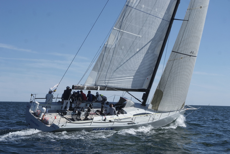 2016 Newport Bermuda Yacht Race start.  SIREN an RP57 skippered by William Hubbard from New York