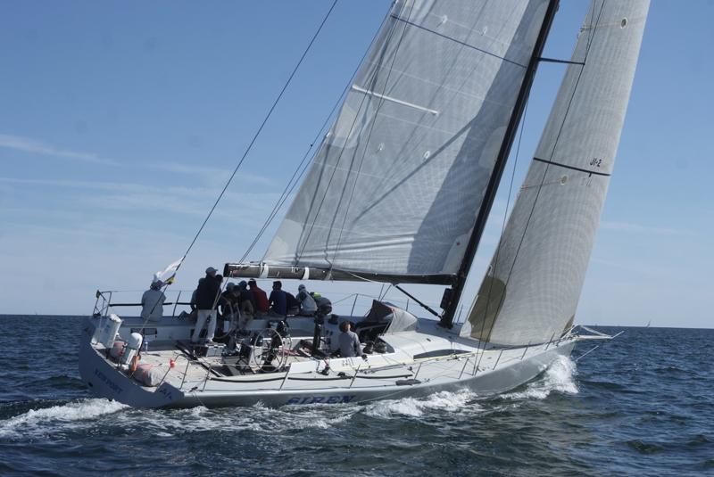2016 Newport Bermuda Yacht Race start.  SIREN an RP57 skippered by William Hubbard from New York