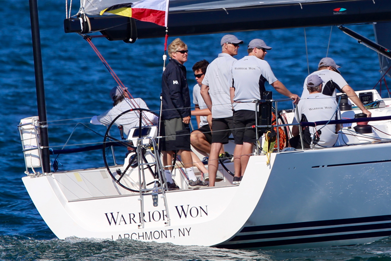 2016 Newport Bermuda Yacht Race Start; WARRIOR WON, the Xp 44 skippered by Christopher Sheehan from Larchment NY, winners of the St David's Lighthouse trophy
