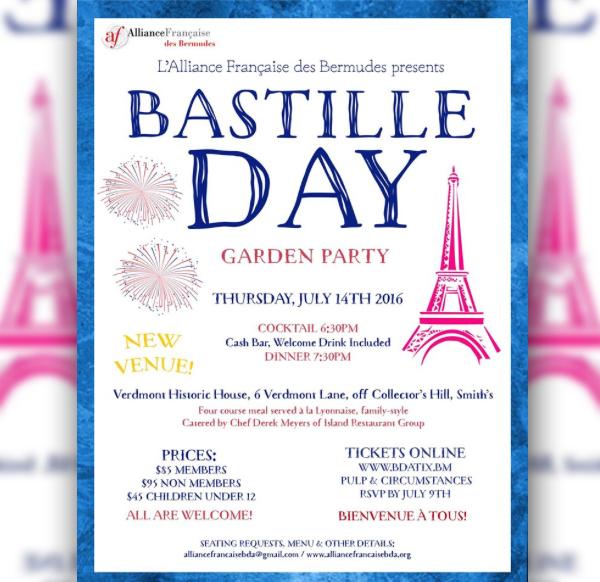 Bastille Day Bermuda July 4 2016