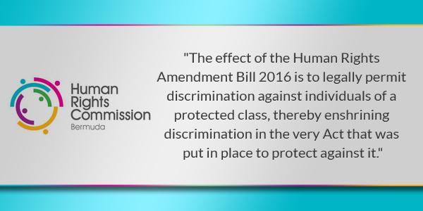 HRC Human Rights Commission Bermuda TC July 12 2016