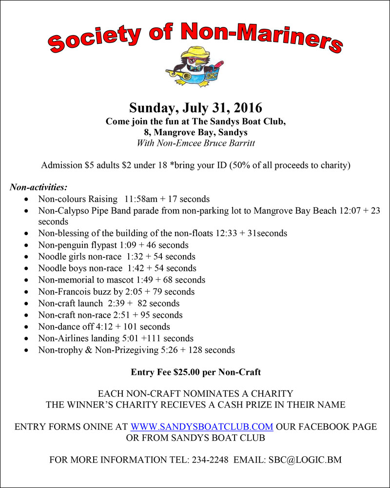 Nonmariners 2016 flyer and schedule