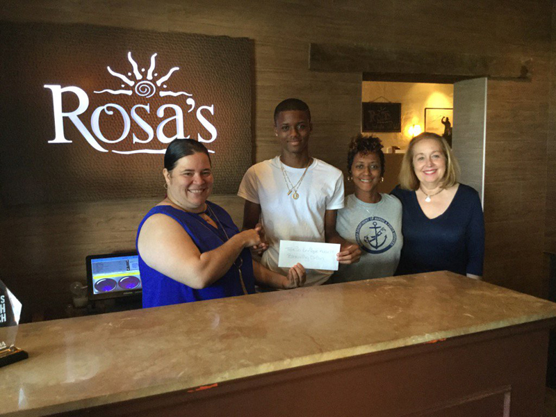 Rosa's Help Tokia Russell's son Bermuda July 14 2016  (1)