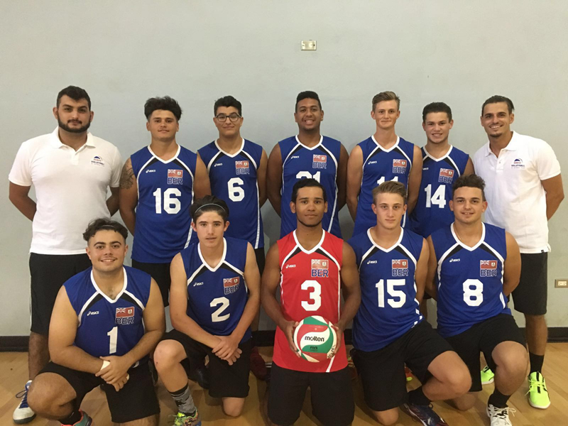 Under 23 Bermuda Volleyball National Team July2016