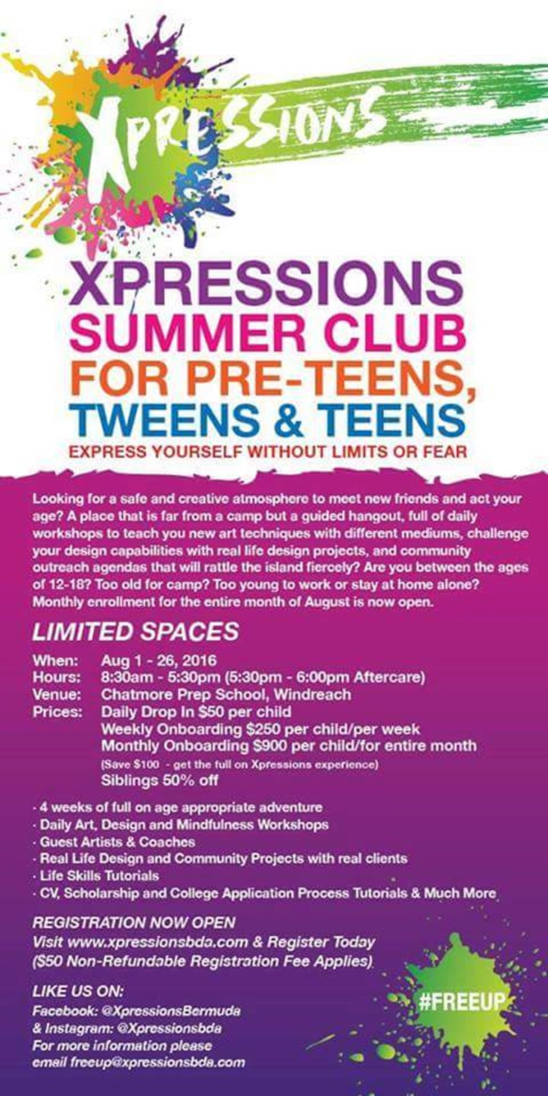 Xpressions Bermuda Summer Art Club (1)