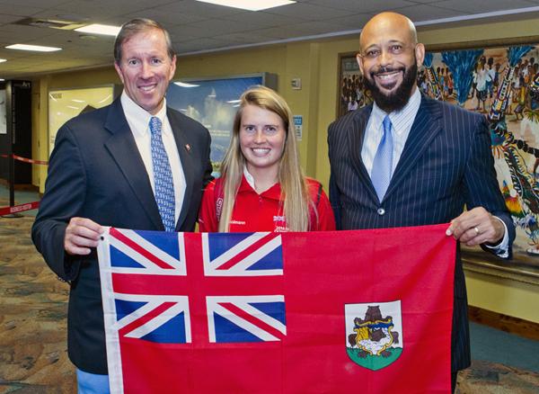 Minister 2016 Rio Olympics Team Return Bermuda August 25 2016 2