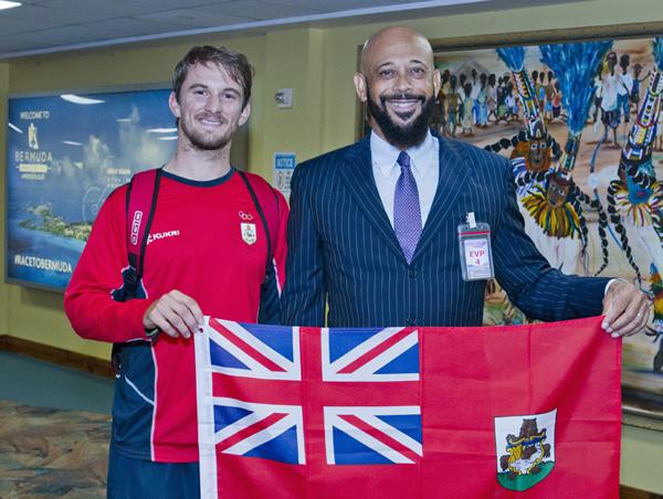 Minister 2016 Rio Olympics Team Return Bermuda August 25 2016 5