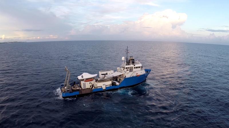 Nekon's mission ship Baseline Explorer. Courtesy of Nekton and the XL Catlin Deep Ocean Survey