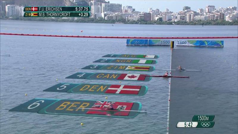 Pearson, Shelley finish Olympics Bermuda August 9 2016