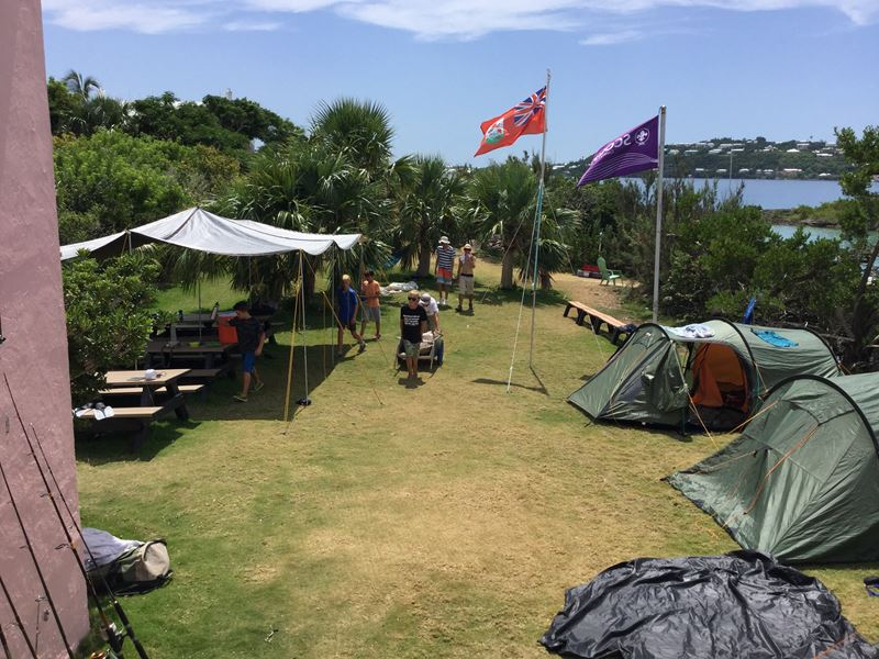 Scouts Camp On Trunk Island (4)