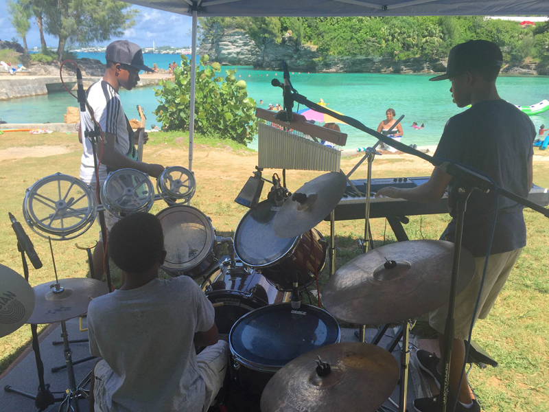 Simon Bros at Admiralty Cove Group Bermuda August 2 2016