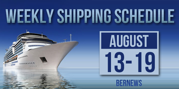 Weekly Shipping Schedule Bermuda TC August 13-19 2016