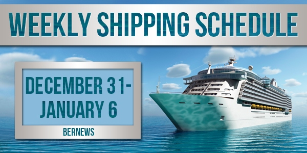 Weekly Shipping Schedule Bermuda TC December 31 - January 6 2017