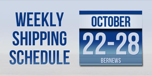 Weekly Shipping Schedule Bermuda TC October 22 - 28 2016