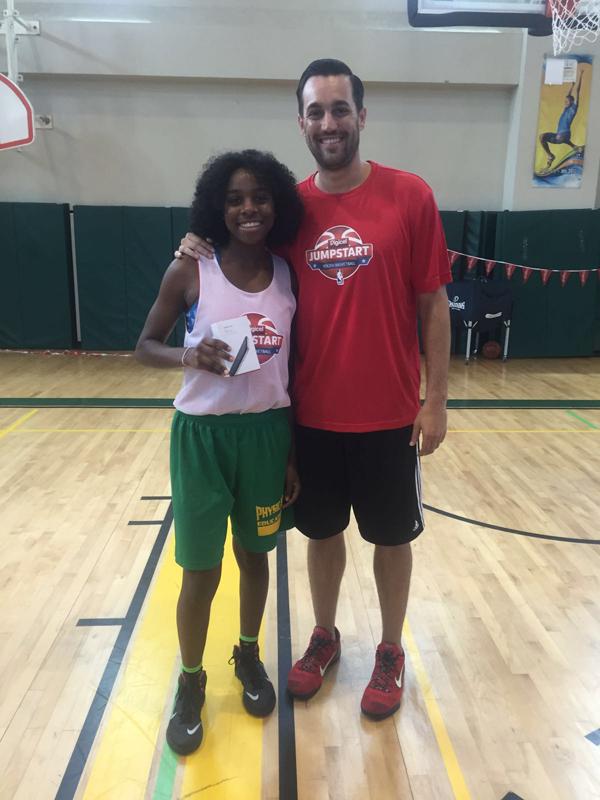Zara Wilson with NBA coach Matt Brase Bermuda August 27 2016