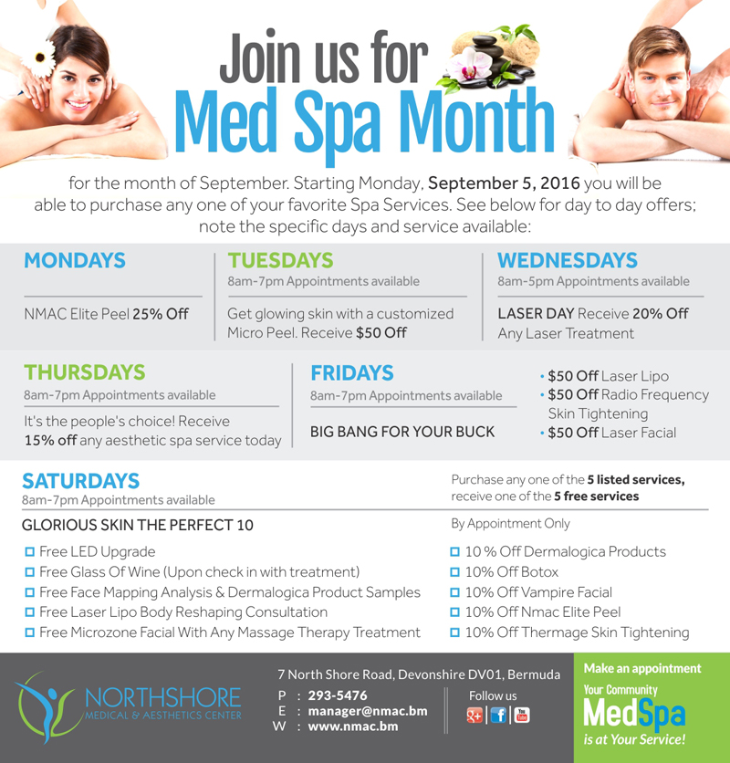 Labour Day Medspa Bermuda Sept 12 2016