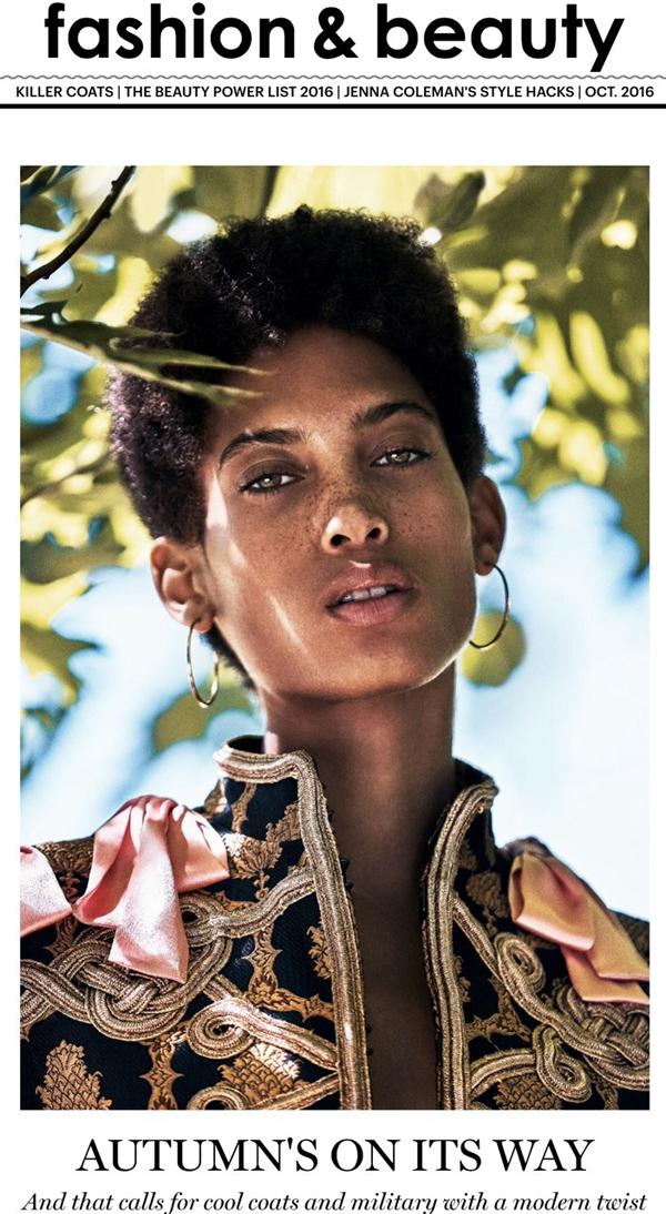 Lily Lightbourn Bermudian model Glamour UK 2016 10