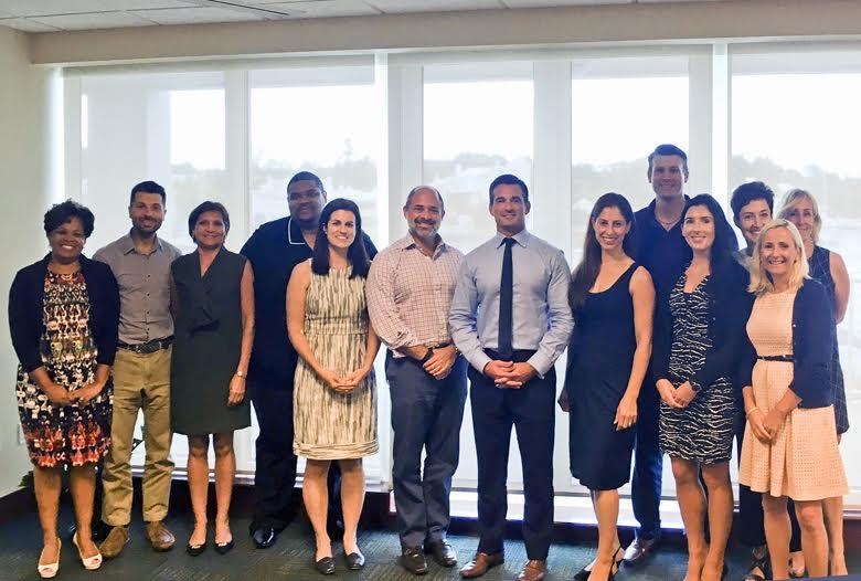 Minister Baron and Stephen Weinstein with RenaissainceRe team Bermuda Sept 13 2016