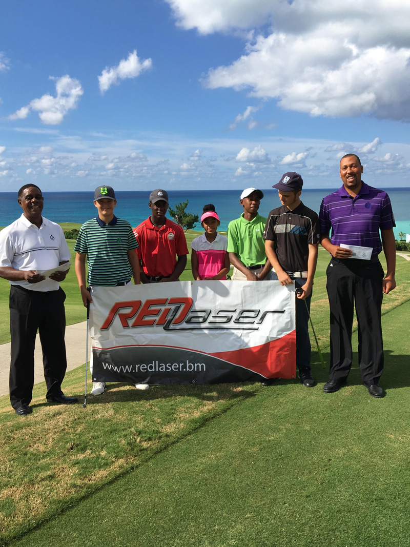 Red Laser Junior golf outreach Bermuda September 19 2016