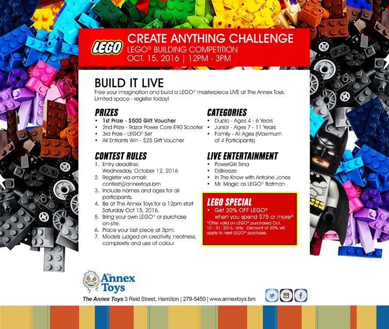Alternate Lego Competition Bermuda October 2016