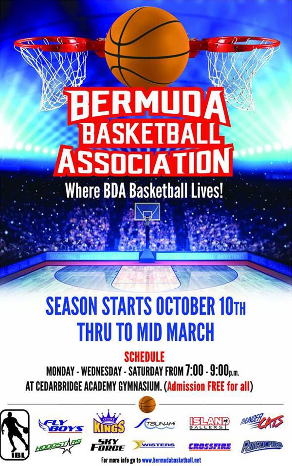 BBA Island Basketball League Bermuda October 10 2016