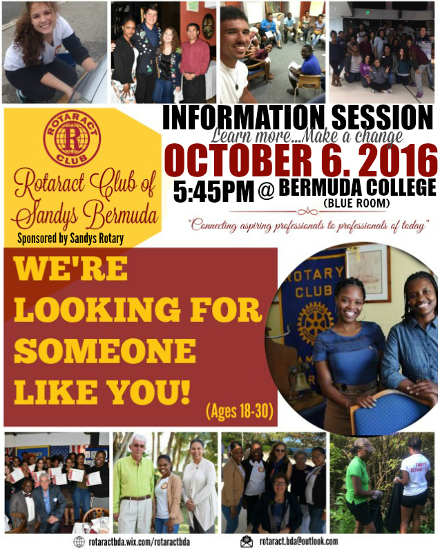 Common Room Rotaract Bermuda October 2016