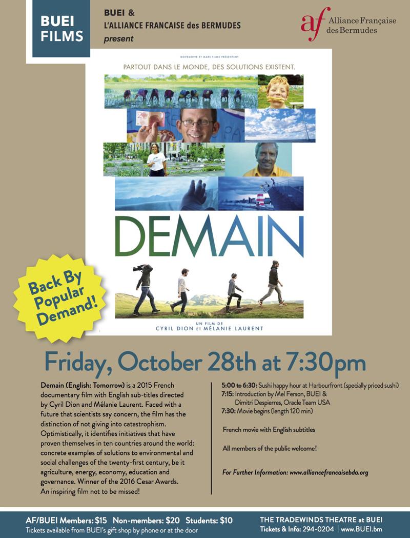 Demain Bermuda October 2016