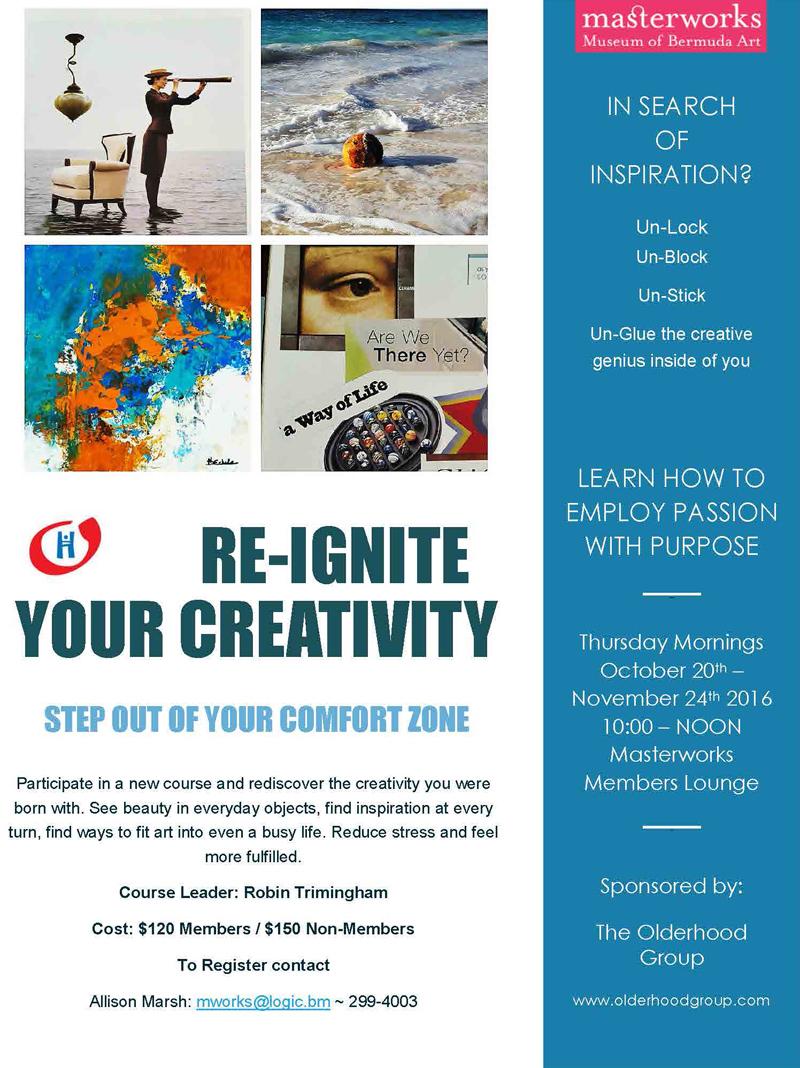 Re-Ignite Creativity Bermuda October 6 2016
