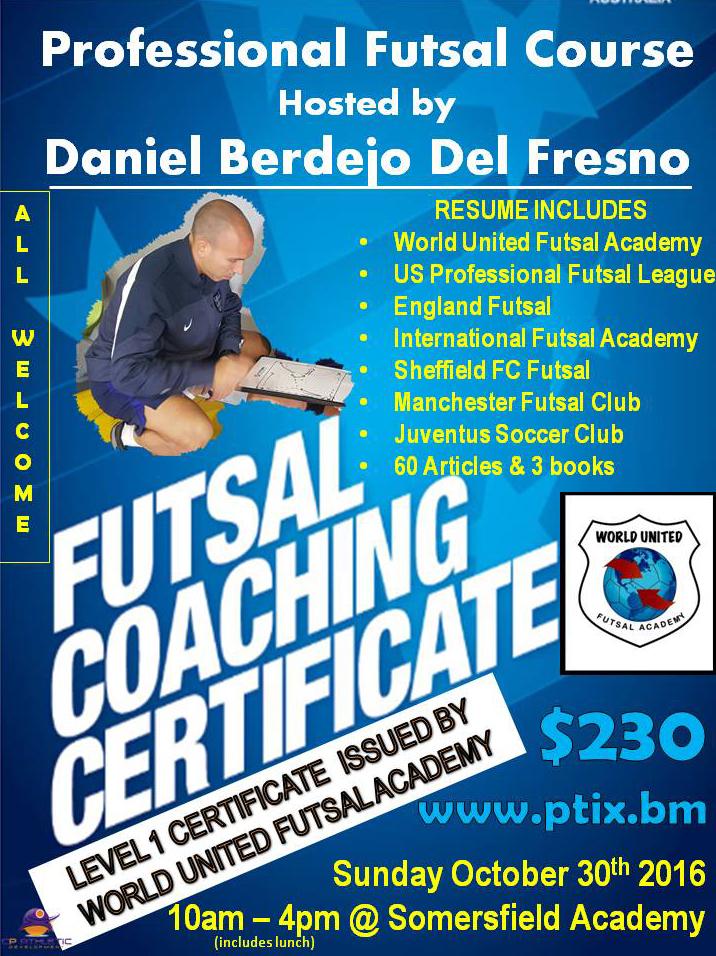 WUFA Futsal Course Bermuda October 2016