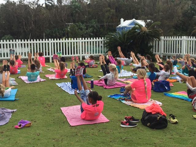 Yoga warmup Bermuda October 17 2016