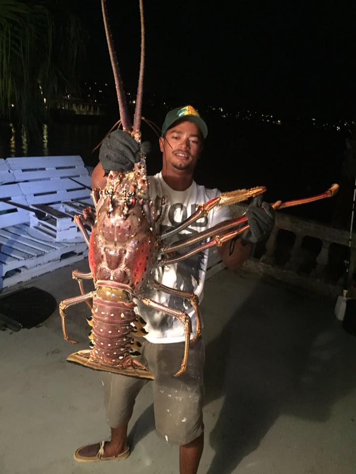 giant lobster caught after nicole photo by Tristan Loescher  (1)