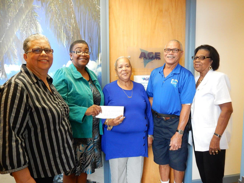 Donation To Age Concern Bermuda Nov 2016