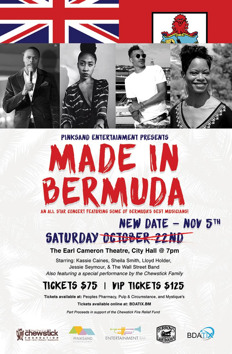 Made In Bermuda Concert Bermuda November 2016