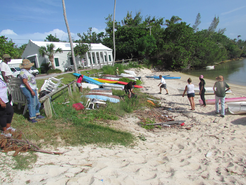 Mangrove Bay Beach Community Cleanup Bermuda Nov 2016