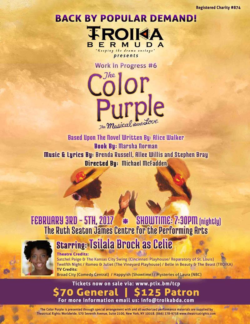 The Color Purple Bermuda Nov 8 2016